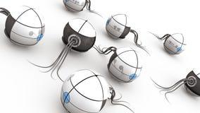Mechanical Spheres stock illustration