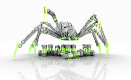 Mechanical spider Stock Photo