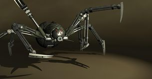Mechanical spider Stock Photography