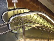 Mechanical stairs. At Barcelona underground Royalty Free Stock Images