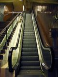 Mechanical stairs. At Barcelona underground Stock Images