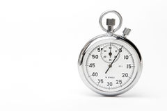 Mechanical stopwatch. On white background stock images