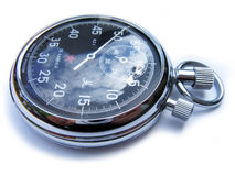 Mechanical Stopwatch. Russian mecanical stopwatch, isolated on white background royalty free stock photography