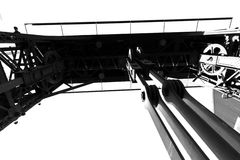 Mechanical structure Royalty Free Stock Images