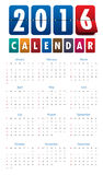 2016 mechanical timetable calendar template .Vector.  Royalty Free Stock Images