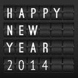 Mechanical Timetable, Happy New Year 2014 Royalty Free Stock Photos