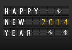 Mechanical timetable, happy New Year 2014 card. Royalty Free Stock Images