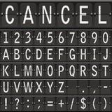 Mechanical timetable letters. Alphabet set.mechanical timetable letters ABC Royalty Free Stock Image