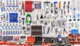 Mechanical tools for auto service and car repair Stock Image