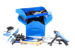 Mechanical tools in the box Stock Photos