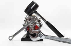 Mechanical Tools Repairing Engine Royalty Free Stock Photography