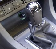 Mechanical transmission. In the car Royalty Free Stock Photo