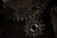 Mechanical transmission by means of gears Royalty Free Stock Image