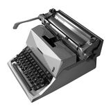 Mechanical type writer isolated Stock Images