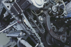 Mechanical unit with chain and sprocket.  Stock Photography