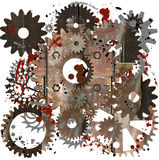 Mechanical universe vector illustration