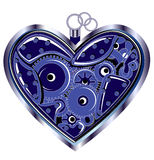 Mechanical Valentine heart Stock Photo