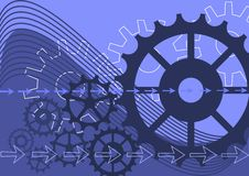 Mechanical vector background Royalty Free Stock Photo