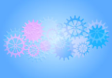 Mechanical Vector Background with Gears and Cogs. Royalty Free Stock Images