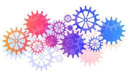Mechanical Vector Background with Gears and Cogs. Royalty Free Stock Photo