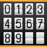 Mechanical Vector Scoreboard. With numbers 0-9, vector illustration stock illustration