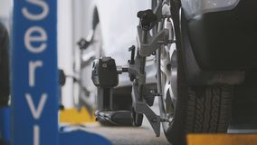 Mechanical vehicle workshop service - the collapse of convergence - process repairing Stock Image