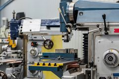 Mechanical vertical milling machine. Stock Images