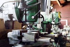 Mechanical vertical milling machine. stock photography