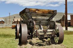 Mechanical Vintage Wagon. At Bodie Ghost Town royalty free stock photos