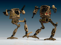 Mechanical warriors Stock Image