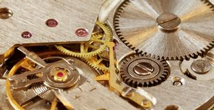 Mechanical watch close-up Royalty Free Stock Images