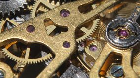 Mechanical watch. Close up stock video