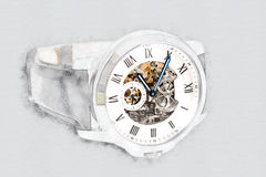 Mechanical Watch Concept With Visible Mechanism Royalty Free Stock Photo