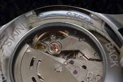 Mechanical watch details Royalty Free Stock Photography