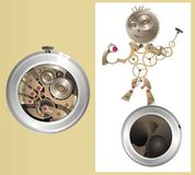 Mechanical watch-men Royalty Free Stock Photography