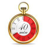Mechanical watch timer 40 minutes Royalty Free Stock Images