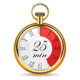 Mechanical watch timer 25 minutes Royalty Free Stock Photo