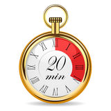 Mechanical watch timer 20 minutes Royalty Free Stock Image