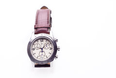 Mechanical watches. On a brown strap Royalty Free Stock Photo