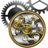 Mechanical watches. Abstract mechanism mechanical watches on a white background royalty free illustration