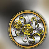 Mechanical watches. Vintage mechanism gold mechanical watches vector illustration