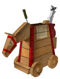 Mechanical wood horse Royalty Free Stock Image