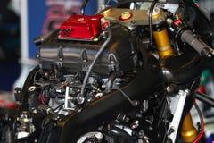 Mechanical working on Suzuki GSX-R1000 Team Fixi Crescent Suzuki Superbike WSBK royalty free stock images