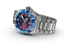 Mechanical wrist watch. 3D illustration Royalty Free Stock Photo