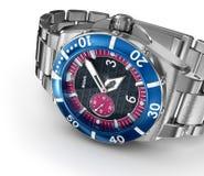Mechanical wrist watch. 3D illustration Royalty Free Stock Photos