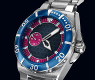 Mechanical wrist watch. 3D model Royalty Free Stock Photo