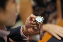 Mechanical wrist watches Royalty Free Stock Images