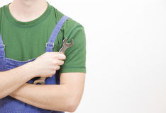 Mechanich hand wrench Stock Image