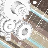 Mechanicl technische Zeichnung Lizenzfreies Stockbild