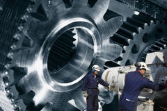 Mechanics, cogwheels and machinery Stock Photography